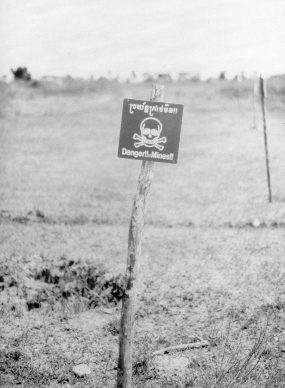 Landmine Warning Sign