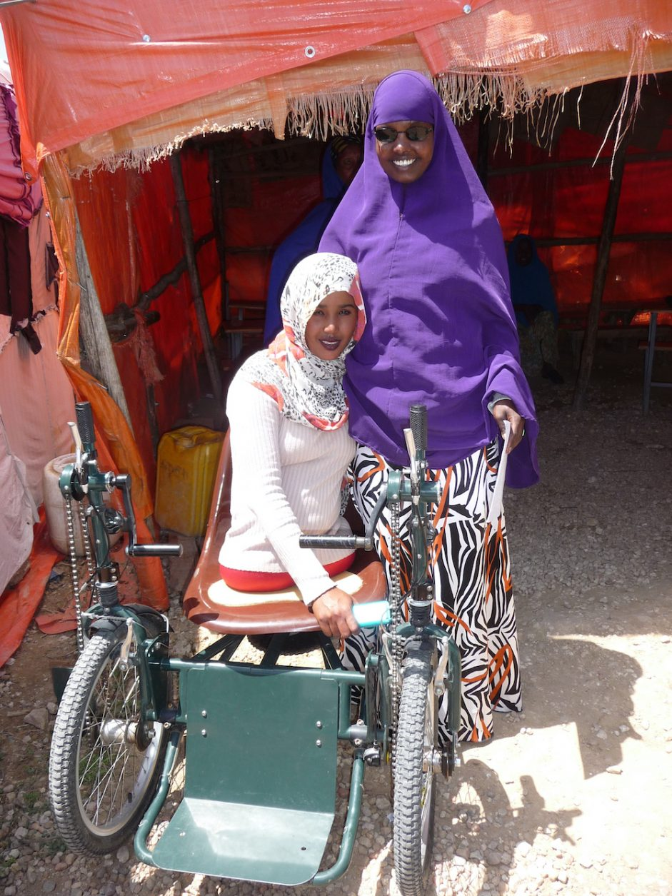 Two displaced young women with disabilities in Ethiopia.