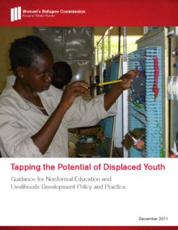 Tapping the Potential of Displaced Youth Cover Page
