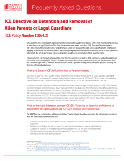 FAQs on ICE Directive 2017 Cover Page