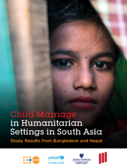 Child Marriage Humanitarian Settings in South Asia Report Cover