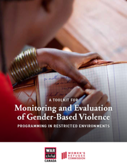 Monitoring and Evaluation of Gender-Based Violence Toolkit Cover Page