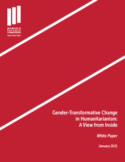 Gender Transformative Change in Humanitarianism Cover Image