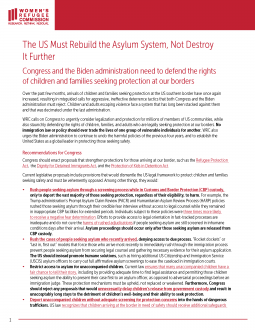 The US Must Rebuild the Asylum System, Not Destroy It Further