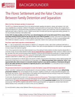 Flores Settlement Backgrounder
