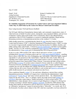 Group letter on the suspension of humanitarian protections at the US-Mexico border