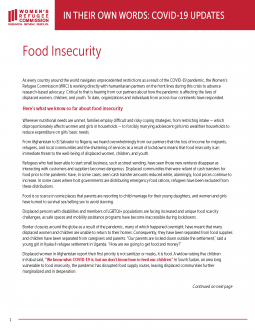 In Their Own Words: COVID-19 Updates on Food Insecurity Thumbnail