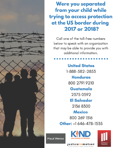 Family Separation Toll-Free Phone Numbers