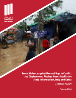 Sexual Violence against Men and Boys Synthesis Report Cover Image