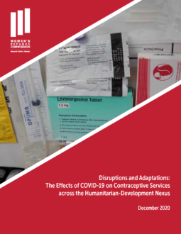 Effects of COVID-19 on Contraceptive Services across the Humanitarian-Development Nexus Cover Image