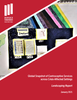 Global Snapshot of Contraceptive Services across Crises-Affected Settings Cover Image