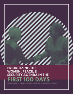 Women, Peace, and Security 2020 Transition Memo