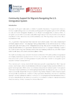 Community Support for Migrants Navigating the US Immigration System Cover Page