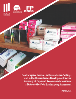 Contraceptive Services in Humanitarian Settings and in the Humanitarian-Development Nexus