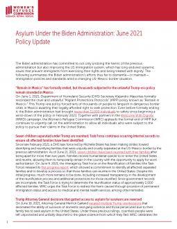 Asylum Under the Biden Administration Fact Sheet