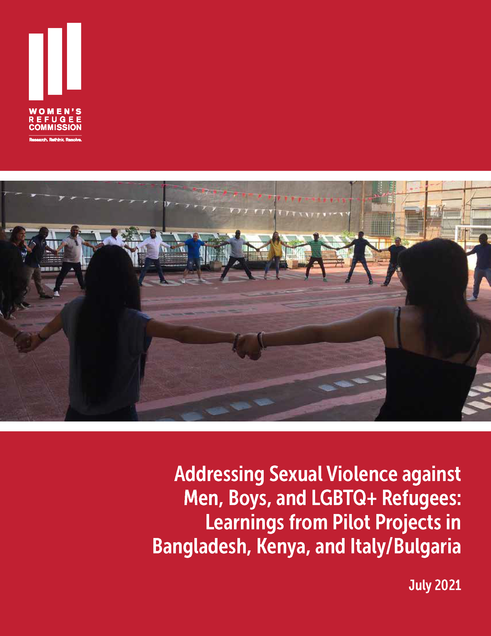 Addressing Sexual Violence against Men, Boys, and LGBTQ+ Refugees Learnings from Pilot Projects Cover Image