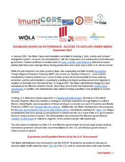 Doubling Down on Deterrence: Access to Asylum under Biden